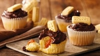Millionaire's Muffins - Feel like a millionaire with these sumptuous caramel and vanilla muffins.
