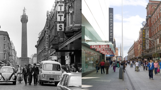 Henry Street, Dublin in 1965 and in 2010