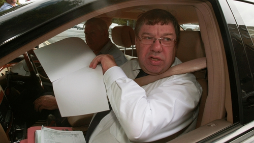 Brian Cowen arriving at Leinster House this morning to give evidence to the inquiry