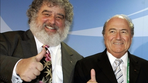 Chuck Blazer (left) with Sepp Blatter - he died on Wednesday aged 72