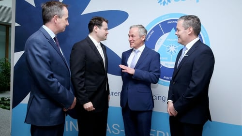 Minister for Jobs, Richard Bruton, attended the opening of Coupa's new European hub