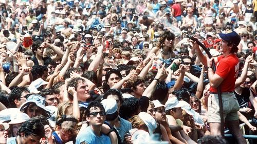 The fans at Philadelphia's JFK Stadium