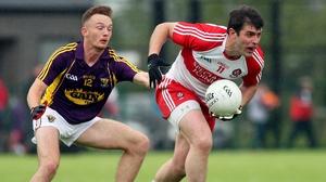 Derry's Mark Lynch and Wexford's Kieran Butler