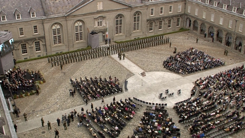 The ceremony honours all Irishmen and Irishwomen who died in past wars or on service with the UN