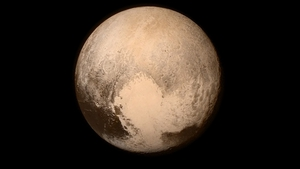 This picture, released yesterday, was taken as New Horizons approached the dwarf-planet (Pic: NASA/JHUAPL)