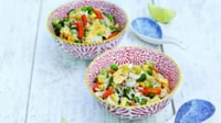 Special Fried Rice with Vegetables - A quick, nutritious and vegetarian meal for kids and adults alike.