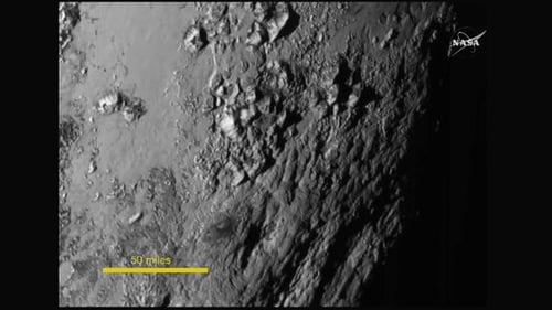 NASA released this high definition close-up picture of Pluto taken by New Horizons