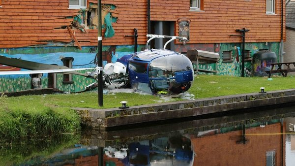 It is understood the small aircraft came down and struck the function room of the Rustic Inn Bar