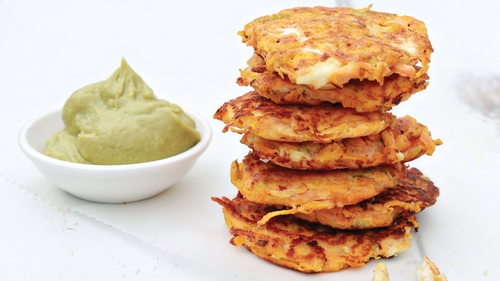 Neven Maguire's Sweet Potato Cakes with Feta