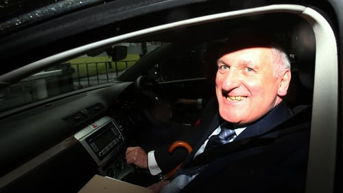 Former taoiseach Bertie Ahern arriving at the banking inquiry