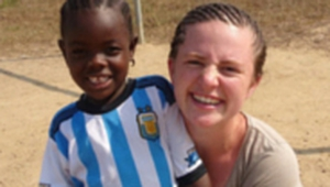 Mary Ann O'Driscoll pictured in Liberia Pic: courtesy of Franciscan Works