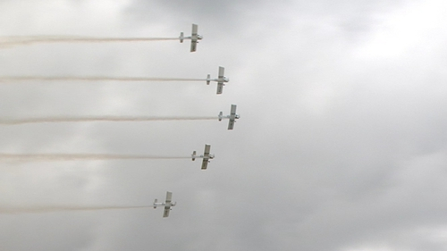 Up to 20 performances and over 30 aircraft took part the airshow, including some of the world's leading aerobatic performers