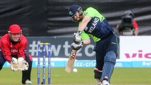 Opener Paul Stirling hit 55 off 38 balls as Ireland reached their target with seven wickets to spare