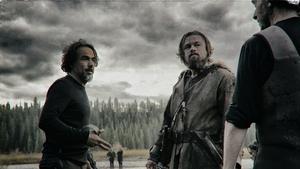 Alejandro G.Iñárritu shootingwith Leonardo DiCaprio on The Revenant