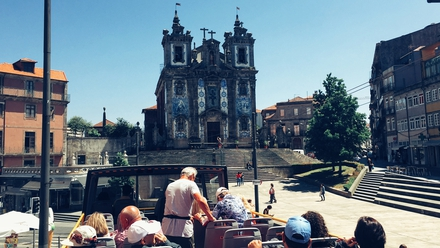 Santo Ildefonso church as seen from the bus tour
