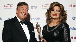 Stephen Fry presenting Panti with a People of the Year Award 2014