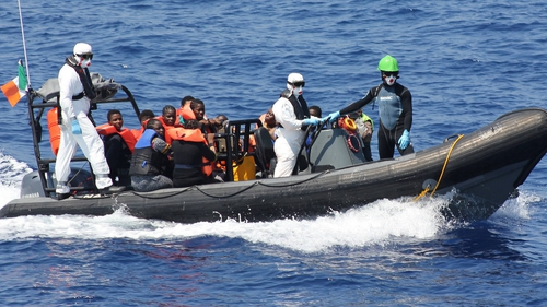 Crew of LÉ Niamh have been involved in the rescue of hundreds of people since deployment