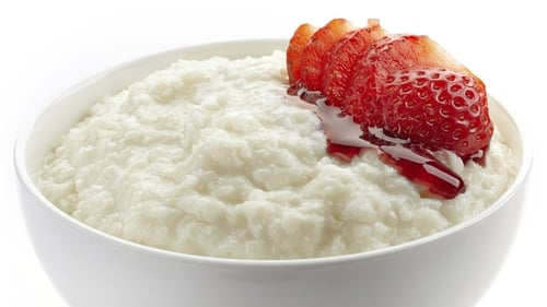 Porridge with Hazelnuts and Strawberry Jam
