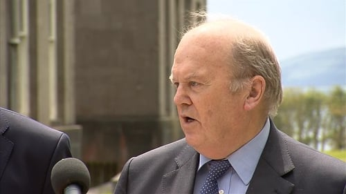 Michael Noonan was speaking on his way into a Cabinet meeting at Lissadell