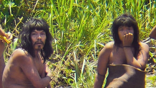 A couple from the Mashco-Piro tribe pictured at the Manu National Park, southeastern Peru