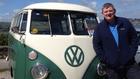 John Creedon with his trusty VW campervan