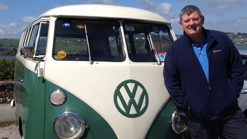 John Creedon with the vintage VW van that took him around Ireland for the RTÉ One series Creedons' Epic East and Creedon's Wild Atlantic Way