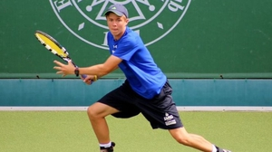 Bjorn Thomson was victorious on his Davis Cup debut