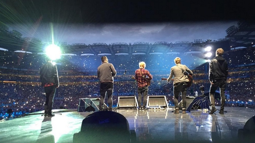 Ed Sheeran was joined on stage by Irish group Kodaline