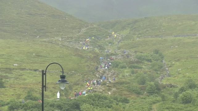 Mass is being celebrated on the summit every half an hour between 8am until 2pm