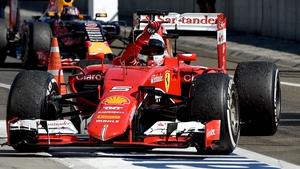 Sebastian Vettel celebrates winning the Hungarian Grand Prix