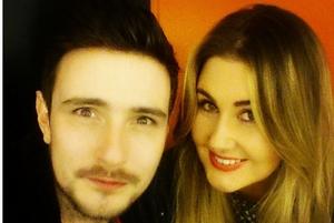Kodaline's Jason Boland with his fiancée, Etaoin Corr