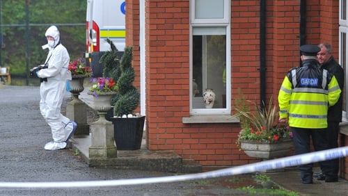 The house near Hackballscross in Louth has been sealed off