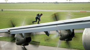 Cruise in a scene from Mission Impossible Rogue Nation