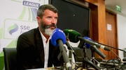 Roy Keane speaking at FAI headquarters yesterday