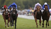 Toormore (second from left) en route to landing the Lennox Stakes at Goodwood this afternoon