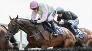 Ruby Walsh riding Long Dog to victory in the opening race in Galway on Tuesday