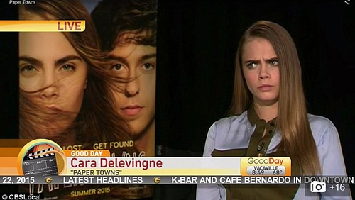"""Delevingne - """"thank you so much john!!"""""""