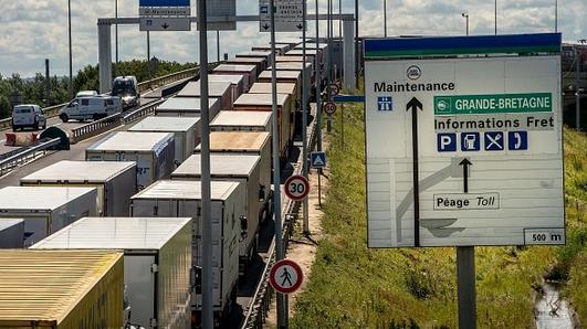 Truckers at Calais