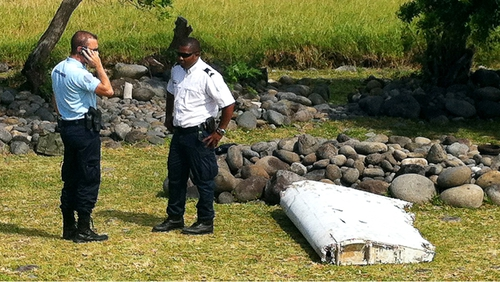 Debris washed up on Reunion Island off the east coast of Africa, but it is unclear if it is from the missing flight
