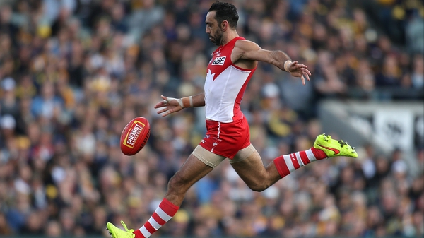 Adam Goodes was honoured as an Australian of the Year in 2014