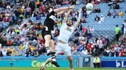 Sligo's Pat Hughes and Ronan McNamee of Tyrone