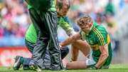 James O'Donoghue was forced off with a shoulder injury
