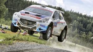 Craig Breen in his Peugeot
