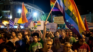 An anti-homophobia rally was held in Jerusalem yesterday following Thursday's attack