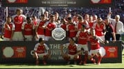 Arsenal celebrate their 14th Community Shield success