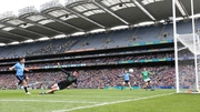 Bernard Brogan scores the first goal of the game at HQ