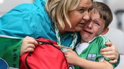 A Fermanagh supporter after watching his team's journey come to an end in the All-Ireland quarter-final