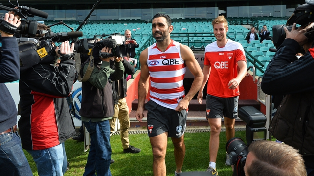 Goodes returns to Swans following racist jeering