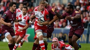 Ross Moriarty (C) in action against Bordeaux