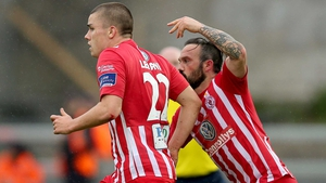Raffaele Cretaro (R) was on target for Sligo Rovers
